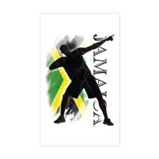 Jamaica - as fast as lightning! - Decal