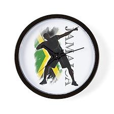 Jamaica - as fast as lightning! - Wall Clock