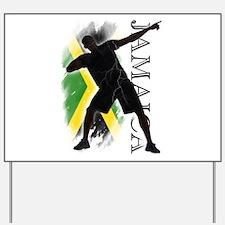 Jamaica - as fast as lightning! - Yard Sign