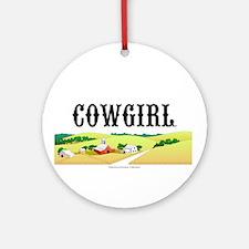 Cowgirl Ornament (Round)