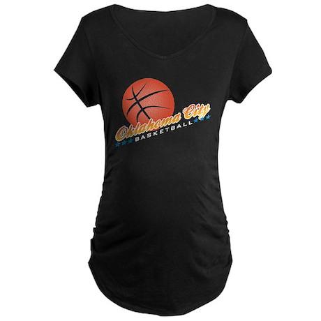 Oklahoma City Basketball Maternity Dark T-Shirt
