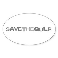 Save the Gulf of Mexico Oval Decal
