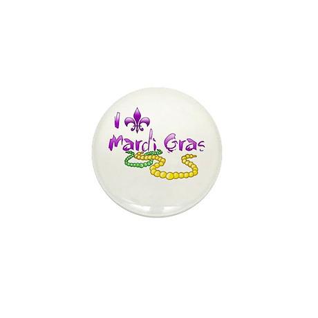 I Fleur-de-Lis Mardi Gras Mini Button