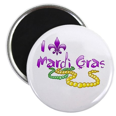 I Fleur-de-Lis Mardi Gras Magnet