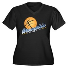 Memphis Basketball Women's Plus Size V-Neck Dark T