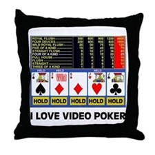 VIDEO POKER IS FUN Throw Pillow