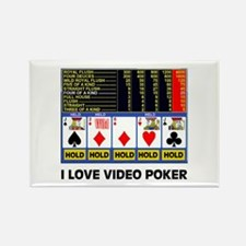 VIDEO POKER IS FUN Rectangle Magnet