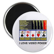 VIDEO POKER IS FUN Magnet