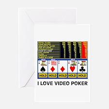 VIDEO POKER IS FUN Greeting Card