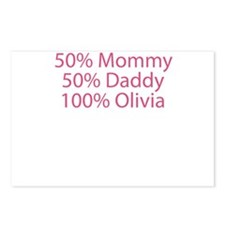 100% Olivia Postcards (Package of 8)