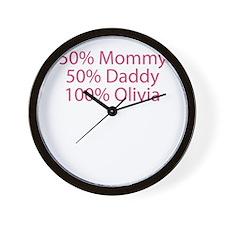 100% Olivia Wall Clock