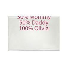 100% Olivia Rectangle Magnet