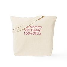 100% Olivia Tote Bag