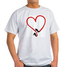 Skier Love Ash Grey T-Shirt