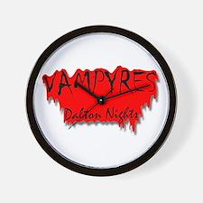 Vampyres: Dalton Nights Blood Red Logo Wall Clock