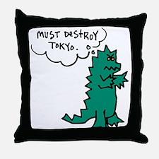 Godzoodle Throw Pillow