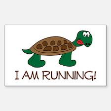 Running Tortoise Sticker (Rectangle)