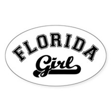Florida Girl Oval Decal