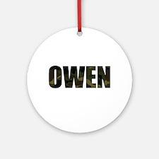 Camo Owen Ornament (Round)