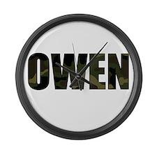 Camo Owen Large Wall Clock