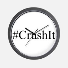 #CrushIt Wall Clock