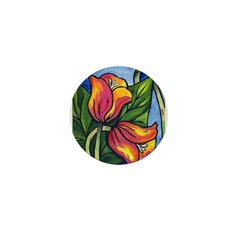 Tulips Together Mini Button (100 pack)