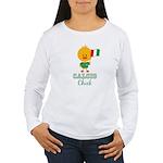 Italian Soccer Calcio Chick Women's Long Sleeve T-