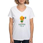 Italian Soccer Calcio Chick Women's V-Neck T-Shirt