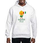 Italian Soccer Calcio Chick Hooded Sweatshirt