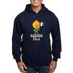 Italian Soccer Calcio Chick Hoodie (dark)