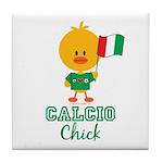 Italian Soccer Calcio Chick Tile Coaster