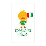 Italian Soccer Calcio Chick Sticker (Rectangle 10