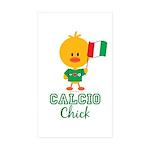 Italian Soccer Calcio Chick Sticker (Rectangle 50