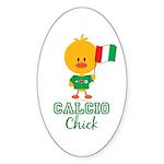 Italian Soccer Calcio Chick Sticker (Oval 10 pk)