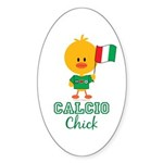 Italian Soccer Calcio Chick Sticker (Oval 50 pk)