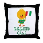 Italian Soccer Calcio Chick Throw Pillow