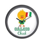Italian Soccer Calcio Chick Wall Clock