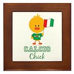 Italian Soccer Calcio Chick Framed Tile