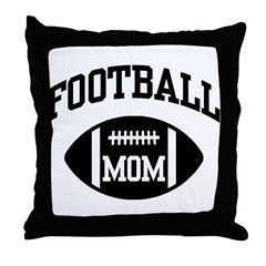 Football Mom Throw Pillow