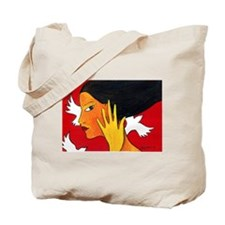 Three White Birds Tote Bag