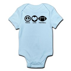 Peace Love Football Infant Bodysuit