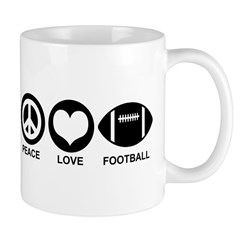 Peace Love Football Mug