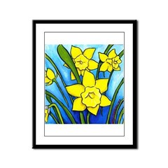 Daffodils Framed Panel Print