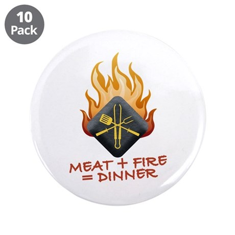 """Grill Master 3.5"""" Button (10 pack)"""