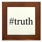 #truth Framed Tile