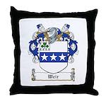 Weir Coat of Arms Throw Pillow