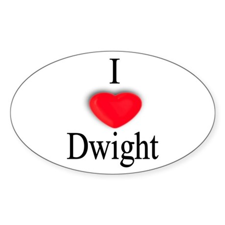 Dwight Oval Sticker