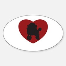 Poodle Heart Decal