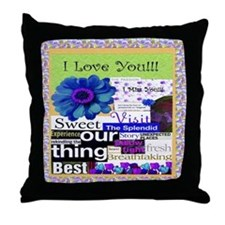 Funny Long distance relationship Throw Pillow