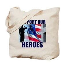 Support Our Heros Tote Bag